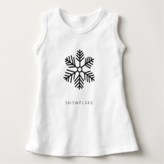 BABY SNOWFLAKE (black) Dress