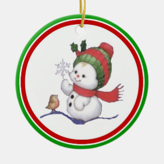 Baby Snowman for Baby's first Christmas Ornament