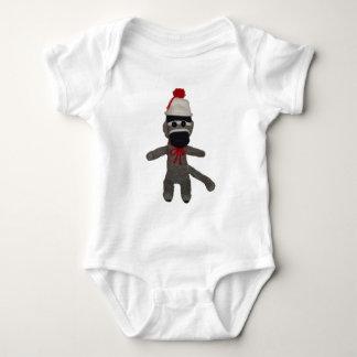 Baby Sock Monkey Baby Bodysuit