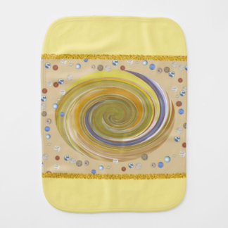 Baby spitting cloth from soft polyester baby burp cloth