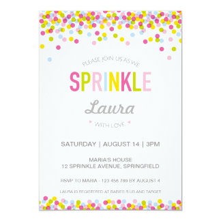 Baby Sprinkle Invitation, Bright Colours Card