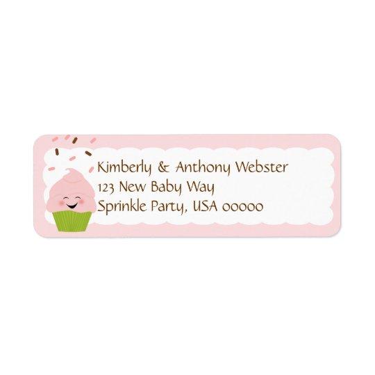 Baby Sprinkle Matching Pink Return Address Lable Return Address Label