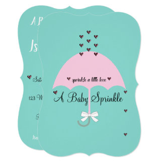 Baby Sprinkle Shower Baby Reveal Party Invitation