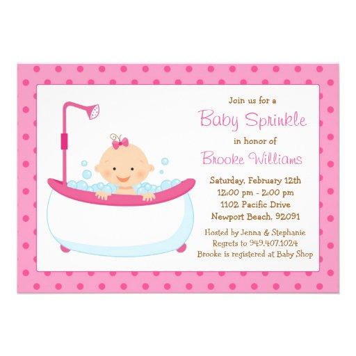 baby sprinkle shower invitation for girl zazzle