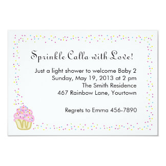 Baby Sprinkle Shower Invitation with Pink Cupcake