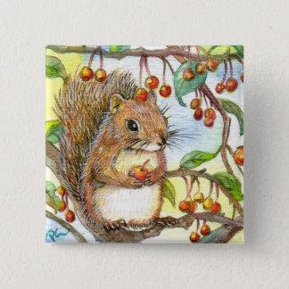 Baby Squirrel 15 Cm Square Badge