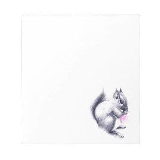 baby squirrel notepad