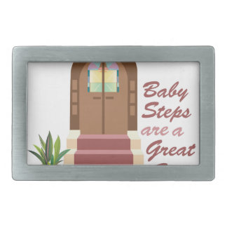 Baby Steps Rectangular Belt Buckles