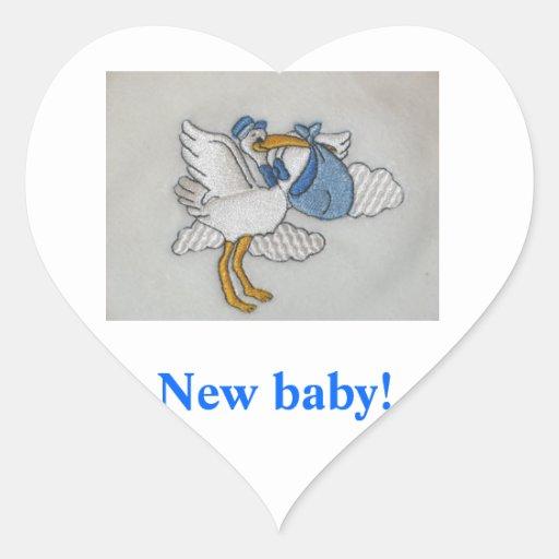 baby stork sticker