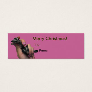 Baby Sugar Gliders Merry Christmas Tag Mini Business Card