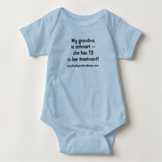 Baby suit - My Grandma is Schmart with T3! Baby Bodysuit