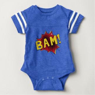Baby superhero comic bodysuit baby gift BAM blue