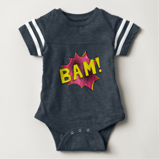Baby superhero comic bodysuit baby gift BAM pink