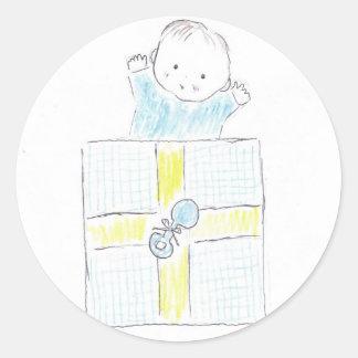 Baby surprise classic round sticker
