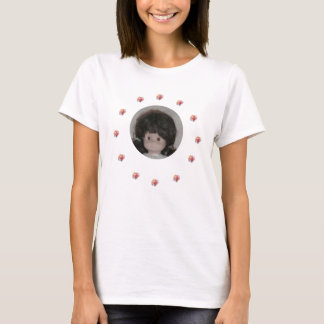 Baby Surrounded by Pink Roses T-Shirt