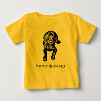 Baby t-shirt black lab puppy