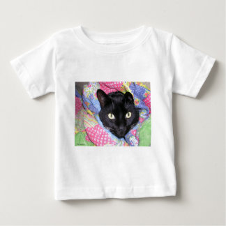 Baby T-Shirt: Funny Cat wrapped in Blankets Baby T-Shirt