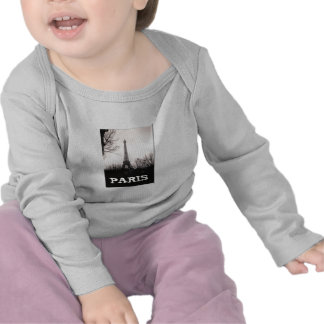 Baby T-Shirt,Long-Sleeved/Eiffel Tower