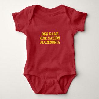 Baby t-shirt: One name, one nation - Macedonia Baby Bodysuit
