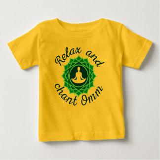 Baby T-Shirt with Azure Mandala