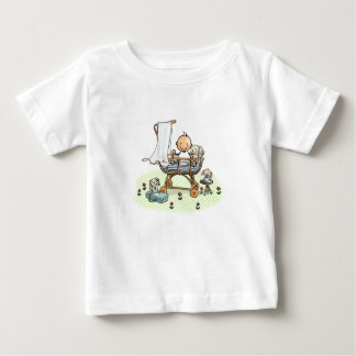 Baby t-shirt with baby in cradle