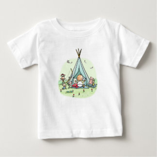 Baby t-shirt with baby in tepee tent