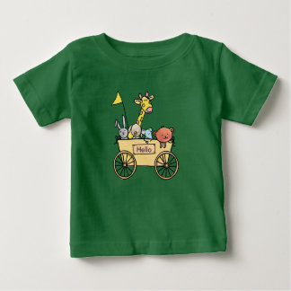 Baby t-shirt with bolderwagen full knuffels