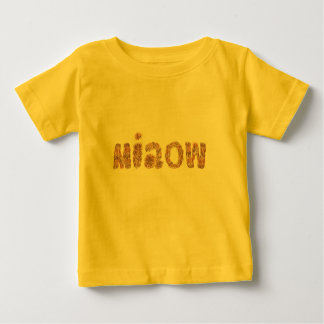 Baby T-shirt with 'miaow'