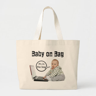 Baby Talk Customize Large Tote Bag