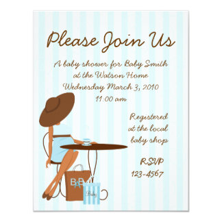 Baby Tea 11 Cm X 14 Cm Invitation Card