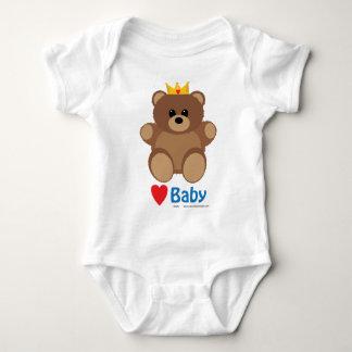 Baby Teddy Bear Heart Bodysuit/Creeper Baby Bodysuit