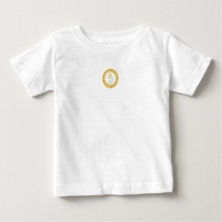 Baby Tee Jersey Shirt White Yellow