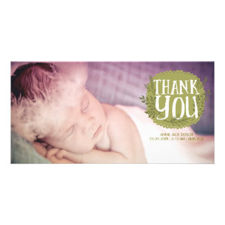 Baby Thank You Nature Overlay Photo Cards