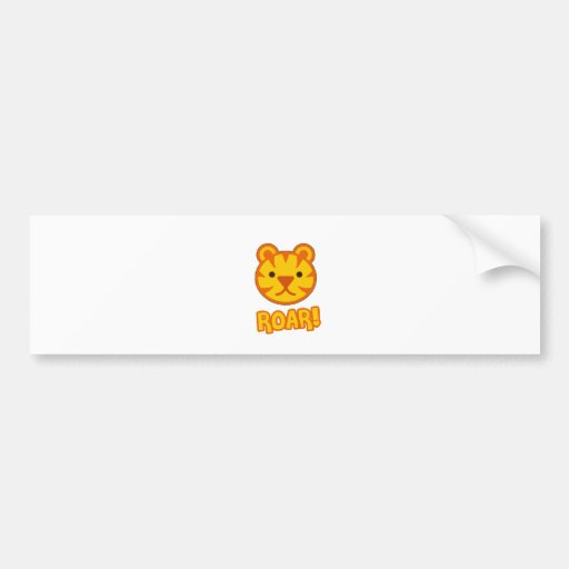 Baby Tiger Cartoon Bumper Sticker