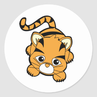 Baby Tiger Cutie Round Sticker