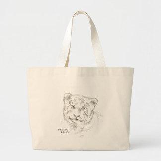 baby Tiger Drawing Large Tote Bag