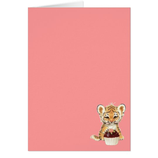 Baby Tiger with birthday candle Card