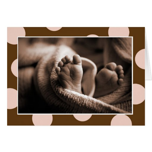 Baby Toes Card - Pink