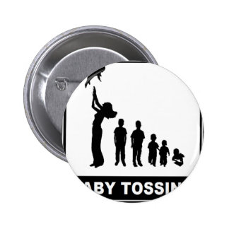 BABY TOSSING PINBACK BUTTON