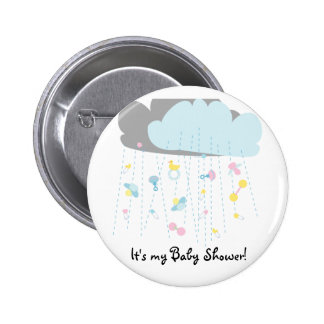 Baby Toy Shower/Baby Shower Invitation 6 Cm Round Badge