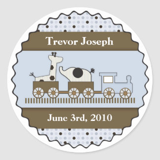 Baby Train Personalized Sticker