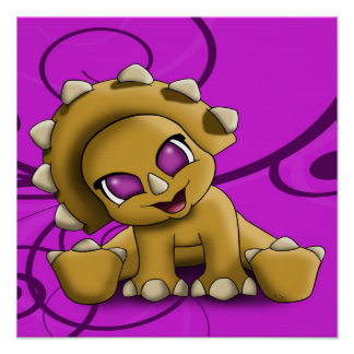 Baby Triceratop Poster