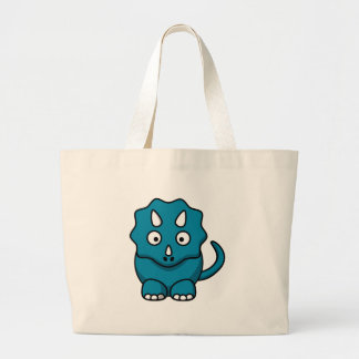 Baby Triceratops Large Tote Bag