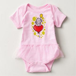 Baby Tutu Bodysuit, Pink, with elephant Baby Bodysuit