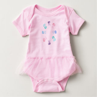 Baby tutu bodysuit with jellyfishes