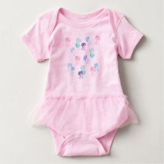 Baby tutu bodysuit with jellyfishes