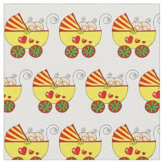 baby twins (yellow pram) nursery fabric
