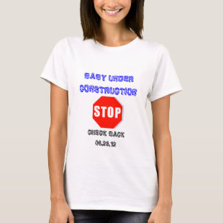 Baby Under Construction Pregnant T-shirt