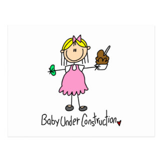 Baby Under Construction T-shirts and Gifts Postcard