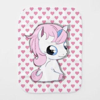 Baby unicorn burp cloth